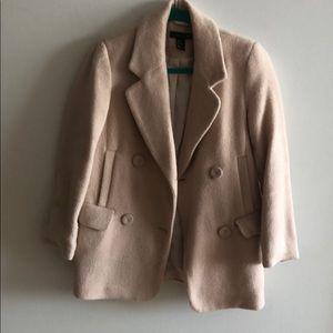 H&M wool coat. Light nude/blush